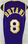 Kobe Bryant Vintage Signature Signed Los Angeles Lakers Custom Jersey (PSA/DNA COA)