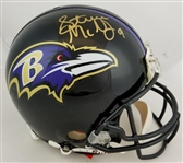 Steve McNair (D.2009) Signed Authentic Full Size Baltimore Ravens Proline Helmet (JSA LOA)