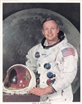Neil Armstrong (d. 2012) Signed Apollo 11 NASA 8x10 Photo (PSA/DNA LOA)