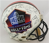 21 NFL Hall of Famers Signed Full Size Authentic Helmet Including Unitas & Starr (Beckett LOA)
