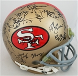 1994 49ers Super Bowl Champion Team Signed Authentic Full Size Helmet (JSA LOA)