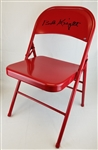 Bob Knight Signed Red Folding Chair (Schwartz Sports COA)