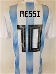 "Lionel Messi ""Leo"" Signed Adidas Argentina Soccer Jersey (Beckett COA)"