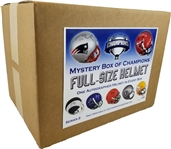 #13 of 25 - Autographed Full Size Helmet Mystery Box - Series 2 - Find the Tom Brady!