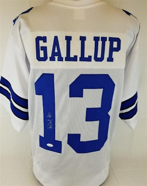 info for fa0d1 41e56 Lot Detail - Michael Gallup Signed Dallas Cowboys Custom ...