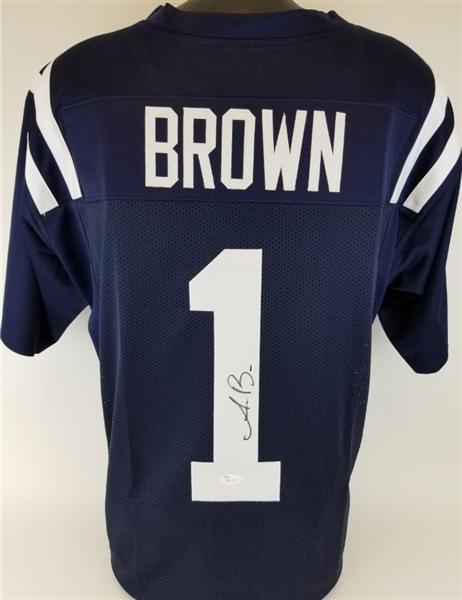 newest 6db0f 0b010 Lot Detail - A.J. Brown Signed Ole Miss Rebels Custom Jersey ...