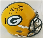 Aaron Rodgers Signed Full Size Replica Green Bay Packers Speed Helmet (Fanatics Certified)