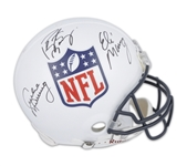 Peyton Manning, Eli Manning & Archie Manning Signed Full Size Authentic NFL Shield Helmet (Fanatics Certified)