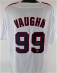 Charlie Sheen Signed Major League Ricky Vaughn Custom Jersey (Beckett COA)