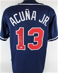 Ronald Acuna Jr. Signed Atlanta Braves Custom Jersey (Beckett COA)