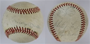Mickey Mantle, Roger Maris, Whitey Ford & 3 Others (Early 60s Yankees) Signed J. deBeer & Son Vintage ML Baseball (JSA LOA)