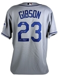 "Kirk Gibson ""88 WS Champs"" Signed Los Angeles Dodgers Authentic Majestic MLB Jersey (Beckett COA)"