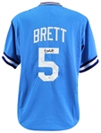 George Brett Signed Kansas City Royals Custom Jersey (Beckett Witness COA)