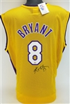 Kobe Bryant Signed Vintage Champion Los Angeles Lakers Jersey (JSA LOA)