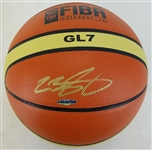 Lebron James Signed Molten FIBA Olympic Basketball (UDA COA)