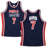 Larry Bird Signed Mitchell & Ness USA Basketball Classics 1992 Dream Team Jersey (Fanatics Certified)