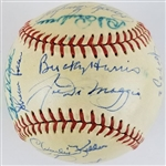 1948 Yankees Team - Joe DiMaggio, Yogi Berra, Vic Raschi & Others (26 Total) Signed OAL William Harridge Baseball (JSA LOA)