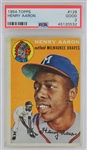 Hank Aaron Braves 1954 Topps #128 Rookie Card - Graded Good 2 (PSA)