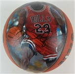Michael Jordan Signed Wilson Jet Hand-Painted Basketball (UDA COA)