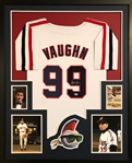 Charlie Sheen Signed Major League Ricky Vaughn Custom Jersey Framed Display (Beckett COA)