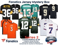 Fanatics Autographed Licensed Jersey Mystery Box Series 2 - Brees, Rodgers, Marino, Elway and more! - Limited to only 20!