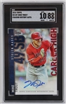 Mike Trout Signed 2015 Topps Chasing History Autograph Baseball Card #CH-MT - Graded NM-MT 8 & Auto Graded 10! (SGC)