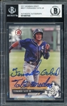 Fernando Tatis Jr. Full Name Signature Signed 2017 Bowman Draft Baseball Card #BD-71 (BAS Encapsulated) - Full Name Signature!