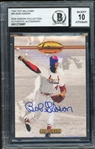 Bob Gibson (d. 2020) Signed 1993 Ted Williams #90 Baseball Card - *From The Bob Gibson Collection* Auto Graded 10! (BAS Encapsulated)