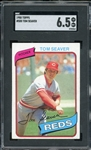 Tom Seaver 1980 Topps Baseball Card #500 - Graded EX-NM+ 6.5 (SGC)