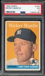 Mickey Mantle 1958 Topps Baseball Card #150 - Graded VG 3 (PSA)