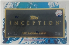 Sealed 2021 Topps Inception Baseball Card Hobby Box - Possible Jo Adell and Dylan Carlson Rookies!