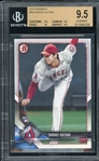 Shohei Ohtani 2018 Bowman Rookie Baseball Card #49 - Graded True Gem Mint 9.5 w/(3) 9.5s & (1) 10 (BGS)!