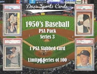 1950s PSA Graded Baseball Card Mystery Pack Series 3