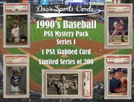 1990s PSA Graded Baseball Card Mystery Pack